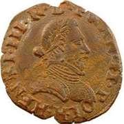 Double Tournois - Henri III (La Rochelle mint; 2nd type) – obverse