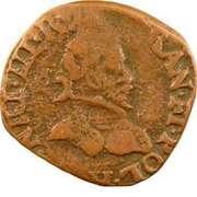Double Tournois - Henri III (La Rochelle mint; 3rd type) – obverse