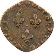 Double Tournois - Henri III (La Rochelle mint; 4th type; small portrait) – reverse