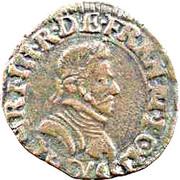 Double Tournois - Henri III (Lyon mint; 1st type) – obverse