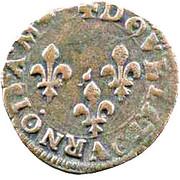 Double Tournois - Henri III (Lyon mint; 1st type) – reverse