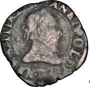 Double Tournois - Henri III (Lyon mint; 2nd type) – obverse