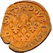 Double Tournois - Henri III (Nantes mint; 1st type) – reverse