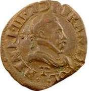 Double Tournois - Henri III (Nantes mint; 2nd type) – obverse