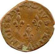 Double Tournois - Henri III (Nantes mint; 2nd type) – reverse