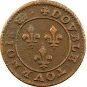 Double Tournois - Henri III (Paris mint; 2nd type) – reverse