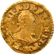 Denier Tournois - Henri III (Paris; 3rd type) – obverse