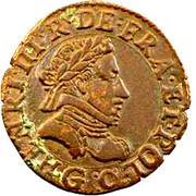 Double Tournois - Henri III (Poitiers mint) – obverse