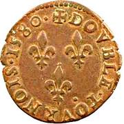 Double Tournois - Henri III (Poitiers mint) – reverse