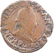 Double Tournois - Henri III (Rennes mint) – obverse