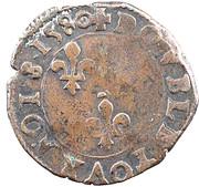 Double Tournois - Henri III (Rennes mint) – reverse