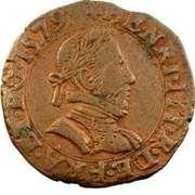 Double Tournois - Henri III (Riom mint) – obverse
