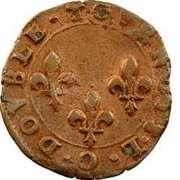 Double Tournois - Henri III (Riom mint) – reverse