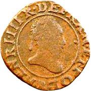 Double Tournois - Henri III (Rouen mint) – obverse