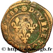 Double Tournois - Henri III (Saint-Lô mint; 2nd type) – reverse