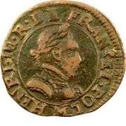 Double Tournois - Henri III (Toulouse mint; Type 1A) – obverse