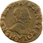 Double Tournois - Henri III (Toulouse mint; Type 1B) – obverse
