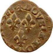 Double Tournois - Henri III (Toulouse mint; Type 1B) – reverse