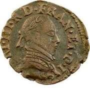 Double Tournois - Henri III (Toulouse mint; Type 1C) – obverse