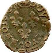 Double Tournois - Henri III (Toulouse mint; Type 1C) – reverse