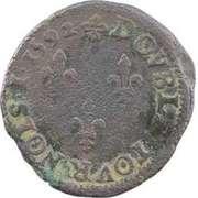 Double Tournois - Henri III (Toulouse mint; Type 1D) – reverse