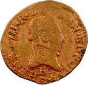 Double Tournois - Henri III (Tours mint; 1st type) – obverse