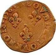 Double Tournois - Henri III (Tours mint; 1st type) – reverse