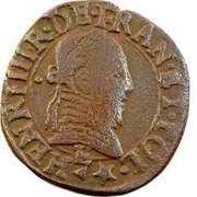 Double Tournois - Henri III (Tours mint; 2nd type) – obverse