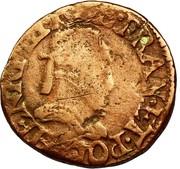 Double Tournois - Henri III (Troyes mint) – obverse