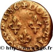 Double Tournois - Henri III (Troyes mint) – reverse