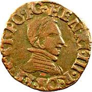 Double Tournois - Henri III (Dauphiné mint; Z on reverse) – obverse
