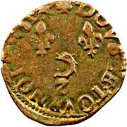 Double Tournois - Henri III (Dauphiné mint; Z on reverse) – reverse