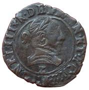 Double Tournois - Henri III (Dauphiné mint; Type A; Z on obverse) – obverse