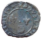 Double Tournois - Henri III (Dauphiné mint; Type A; Z on obverse) – reverse