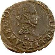 Double Tournois - Henri III (Dauphiné mint; Type B; Z on obverse) – obverse