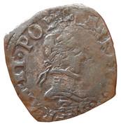 Double Tournois - Henri III (Dauphiné mint; Type C; Z on obverse) – obverse