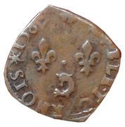 Double Tournois - Henri III (Dauphiné mint; Type C; Z on obverse) – reverse