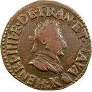 Double Tournois - Henri IV (Bordeaux mint) – obverse