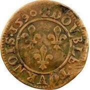 Double Tournois - Henri IV (Châlons-sur-Marne mint; 1st type) – reverse