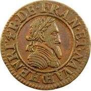 Double Tournois - Henri IV (Châlons-sur-Marne mint; 2nd type) – obverse