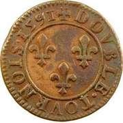 Double Tournois - Henri IV (Châlons-sur-Marne mint; 2nd type) – reverse