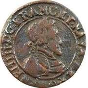 Double Tournois - Henri IV (Clermont-en-Auvergne mint; Latin text) – obverse