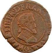 Double Tournois - Henri IV (Clermont-en-Auvergne mint; French text) – obverse