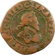 Double Tournois - Henri IV (Dieppe mint; Latin text) – obverse