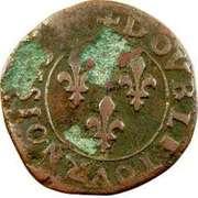 Double Tournois - Henri IV (Dieppe mint; Latin text) – reverse