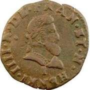 Double Tournois - Henri IV (Limoges mint) – obverse