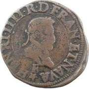 Double Tournois - Henri IV (Tours mint) – obverse