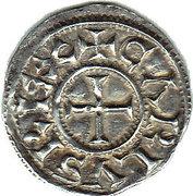 Denier - Charles III the Simple - Christian Legend – obverse