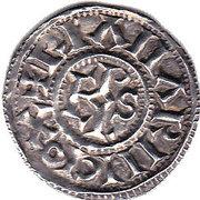 Denier - Charles III the Simple - Christian Legend – reverse