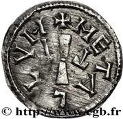 Denier - Louis I The Pious (Melle) – reverse
